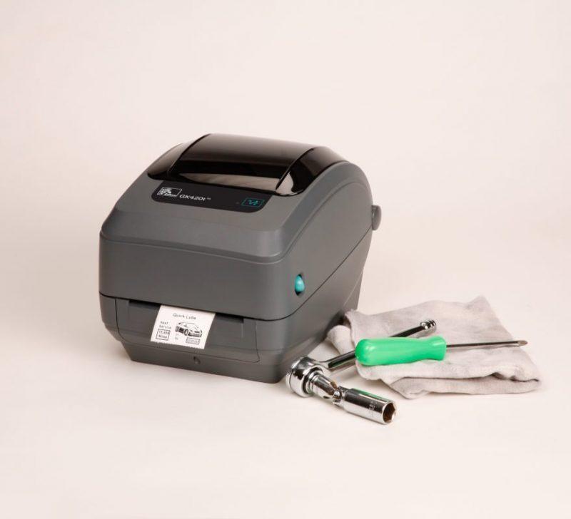 gk420t tools on towel - Zebra GK420t